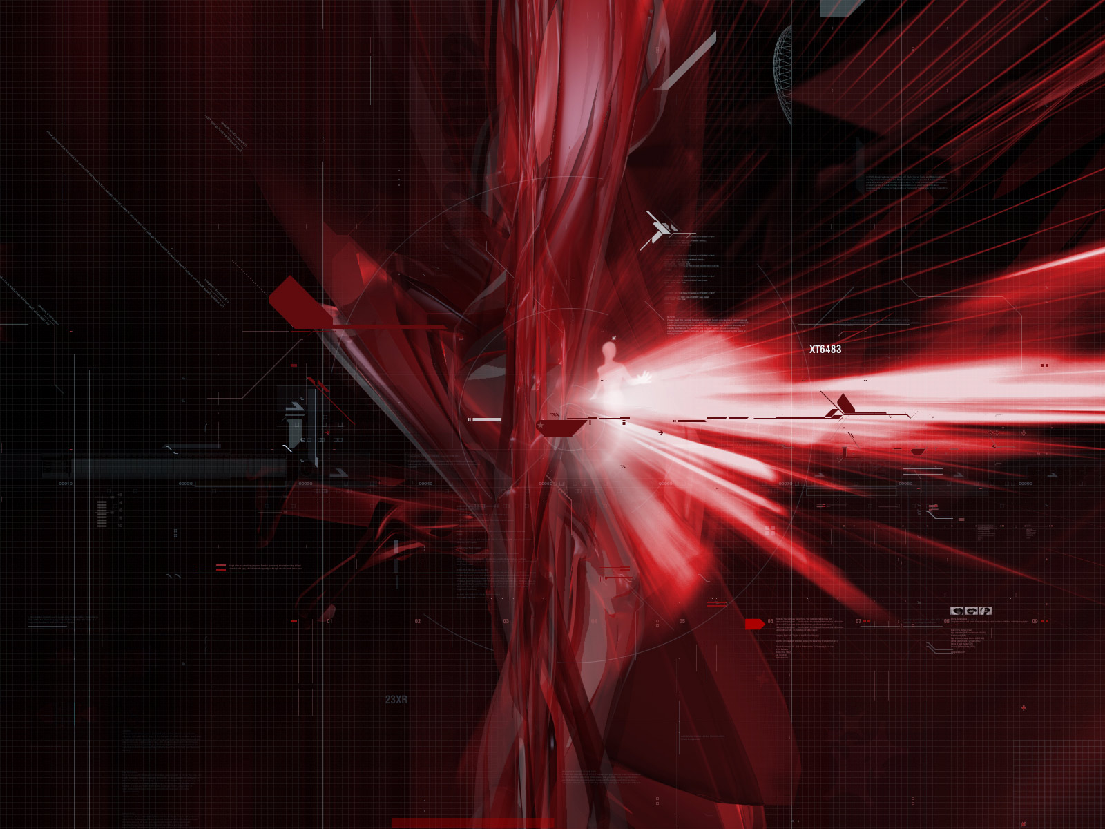 2013 Black And Red Abstract Wallpaper